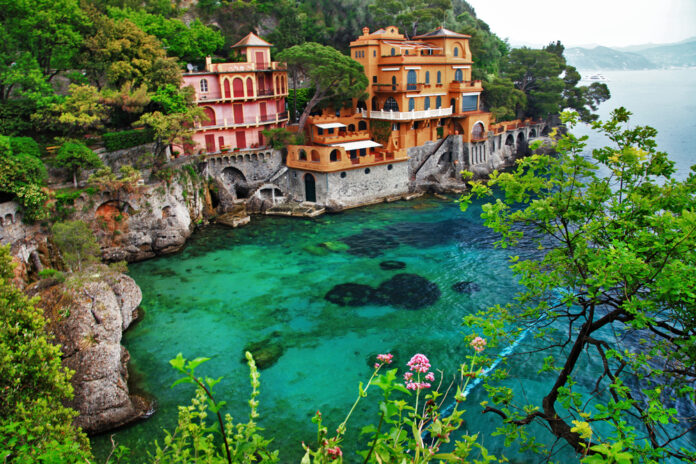 Portofino is the scenary of The Enchanted April book
